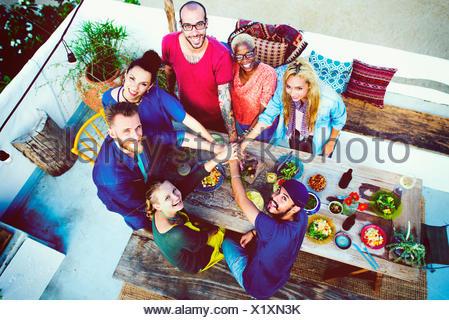 Beach Summer Dinner Party Celebration Concept - Stock Photo
