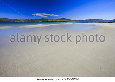 sandy beach of the Balnakeil Bay at the nothern coast of Scotland, United Kingdom, Scotland, Sutherland - Stock Photo