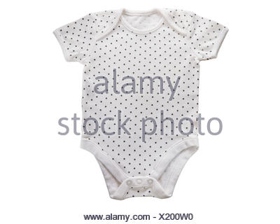7b543f255 ... Baby onesie clothes isolated on white background - Stock Photo