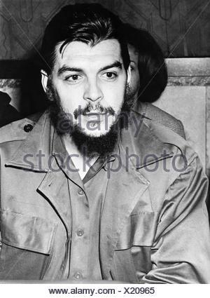 Guevara Serna, Ernesto 'Che', 14.5.1928 - 9.10.1967, Cuban revolutionary of Argentinian origin, half length, 1964,