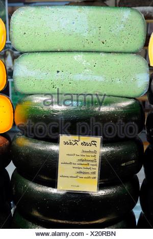 Pesto cheese on the fair 'Gruene Woche' in Berlin - Stock Photo