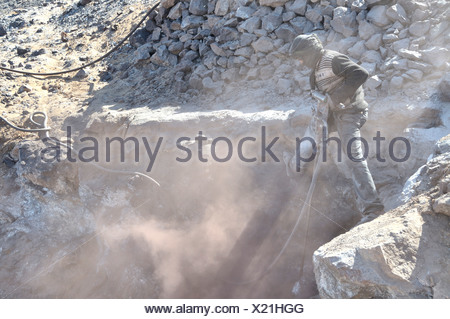 mining of lead sulfide , Morocco - Stock Photo