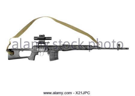 Sniper rifle SVD - Stock Photo
