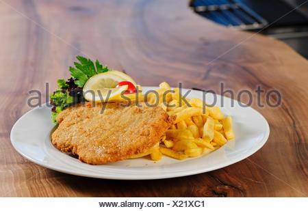 cutlet,wiener schnitzel - Stock Photo