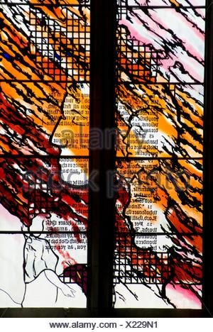 stained glass window in St  Andrew´s Wesley cathedral in downtown Vancouver, BC, Canada - Stock Photo