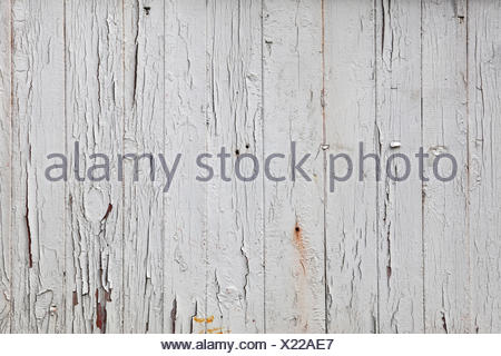 White old vintage grunge painted wooden planks - Stock Photo
