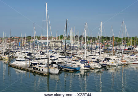 Sailing ships in the port of Lymington, southern England, England, United Kingdom, Europe - Stock Photo