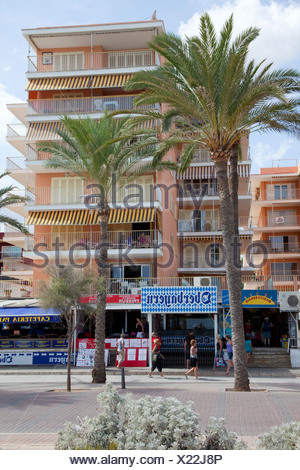 Oberbayern, popular restaurant and disco on Bravo, Playa de Palma, El Arenal, Majorca, Balearic Islands, Spain, Europe - Stock Photo