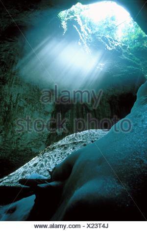 Ghatarul Focul Via ice cave in the Bihor Mountains. - Stock Photo