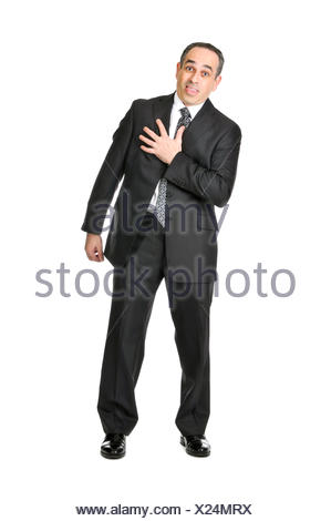 isolated business man businessman - Stock Photo