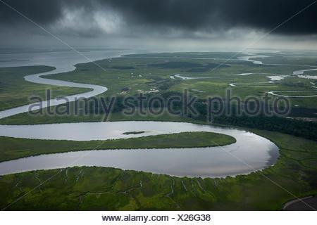 A storm over the Edisto River. - Stock Photo