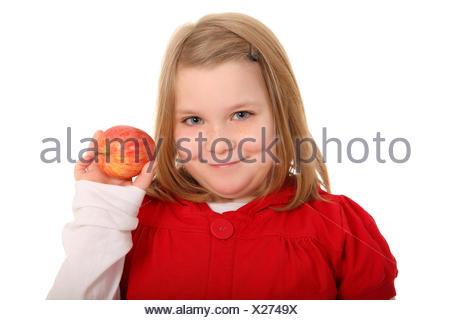 presenting apple - Stock Photo