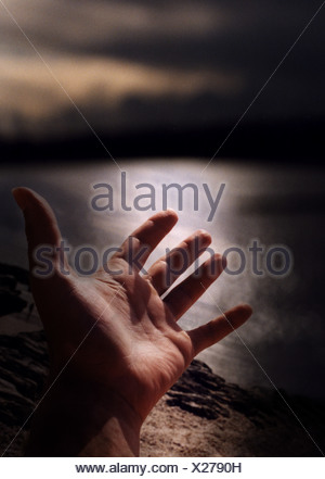 Hand Open - Stock Photo