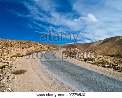 Israel, Negev Desert landscape - Stock Photo