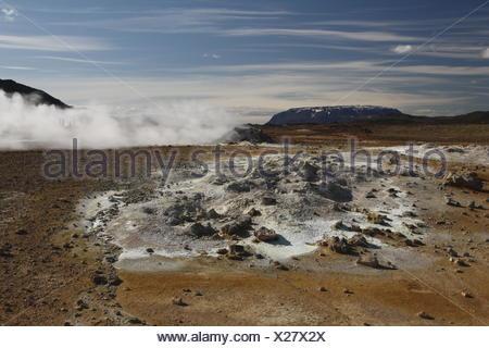 Bláfjall mountain as seen from Hverir - Stock Photo