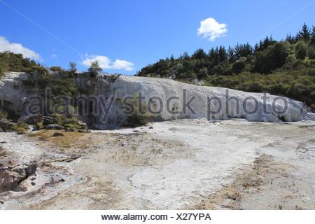 orakei korako, highly active geothermal area, taupo volcanic zone, north island, new zealand - Stock Photo