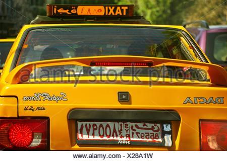 Taxi car at Damascus, Syria - Stock Photo