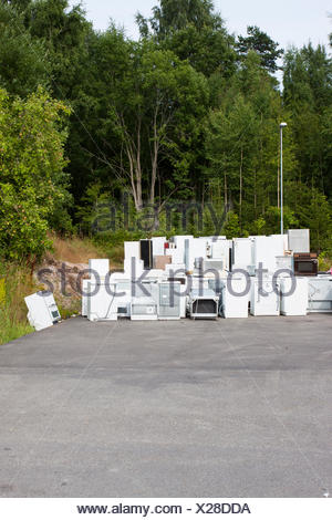 Old junk fridges - Stock Photo