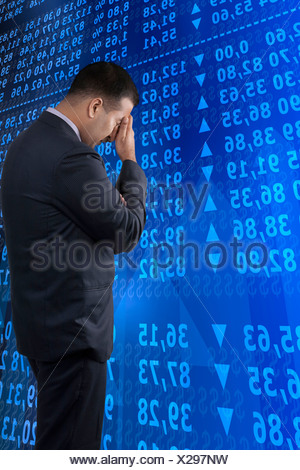 Businessman feeling depressed - Stock Photo
