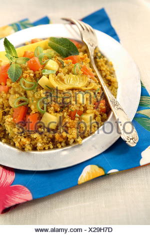 Quinoa and vegetable tabbouleh - Stock Photo