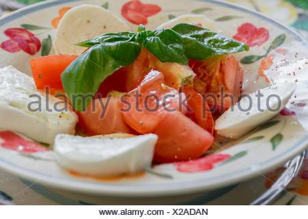 Italian Caprese salad - Stock Photo
