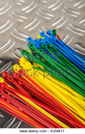 Set colored cable ties, close up Stock Photo: 75662485 - Alamy