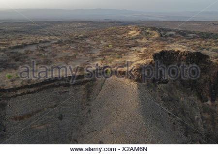 Africa, Kenya, Suguta Valley, volcano scenery, - Stock Photo