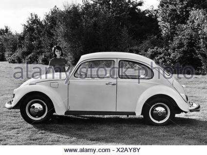 transport / transportation, car, vehicle variants, Volkswagen, VW 1200 beetle, side view, 1968, Additional-Rights-Clearences-NA - Stock Photo