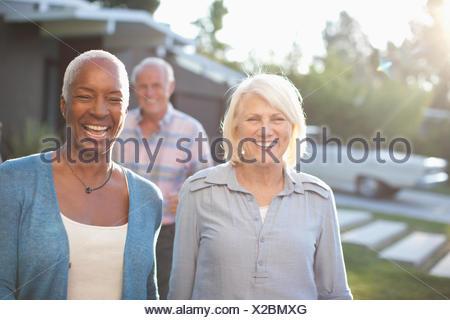 Three mature adults - Stock Photo