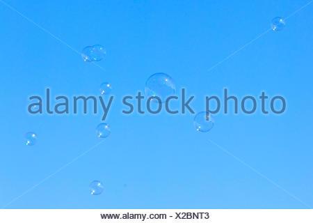 soap bubbles in the sky - Stock Photo