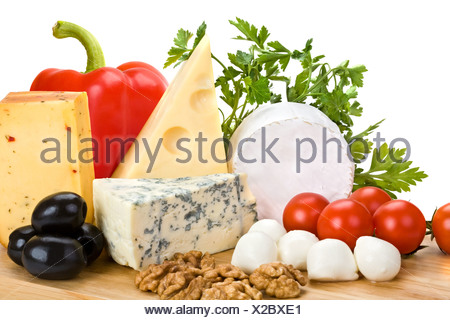 cheese with vegetables - Stock Photo