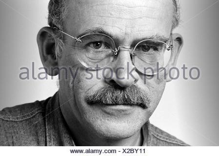 Portrait of Hans-Guenter Wallraff, German writer and journalist - Stock Photo