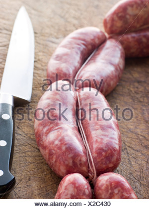 Tuscan sausage in Links - Stock Photo