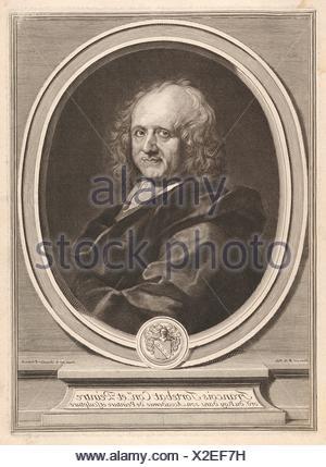 François Tortebat. Artist: Gérard Edelinck (Dutch, Antwerp 1640-1707 Paris); Artist: After M. De Pille; Date: late 17th-early 18th century; Medium: - Stock Photo