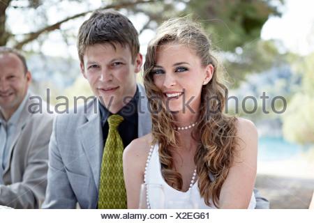 Bride and Groom, Croatia, Europe - Stock Photo