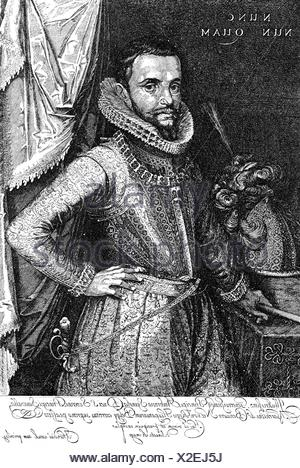 Spinola, Ambrosio, 1569 - 29.9.1630, Spanish general, half length,  copper engraving by Hendrik Hondius, 1st quarter 17th century, , Artist's Copyright has not to be cleared - Stock Photo