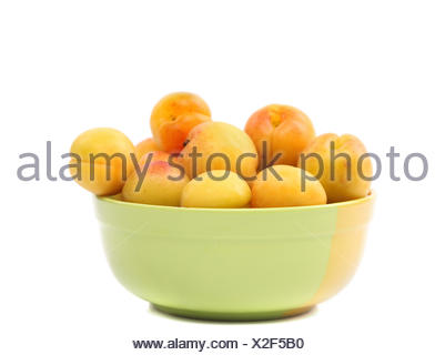 Apricots in a deep plate. - Stock Photo