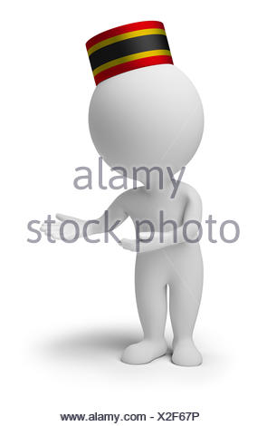 3d small people - bellboy - Stock Photo
