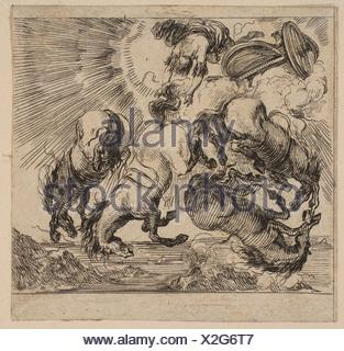 Phaeton, from ´Game of Mythology´ (Jeu de la Mythologie). Series/Portfolio: ´Game of Mythology´ (Jeu de la Mythologie); Artist: Etched by Stefano - Stock Photo