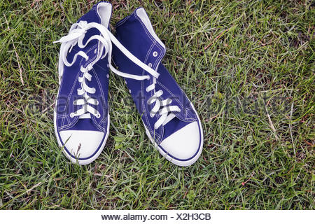 Athletic shoes - comfortable men's sneakers. - Stock Photo