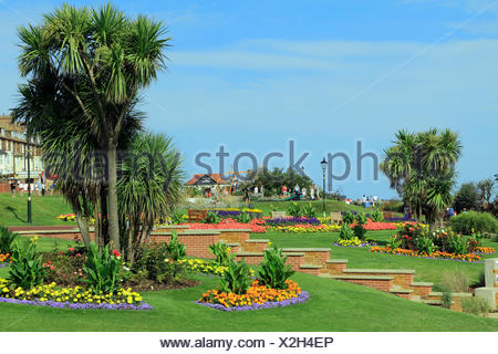Esplanade Gardens, Cliff top, Hunstanton, Norfolk, England, UK, seaside resort - Stock Photo