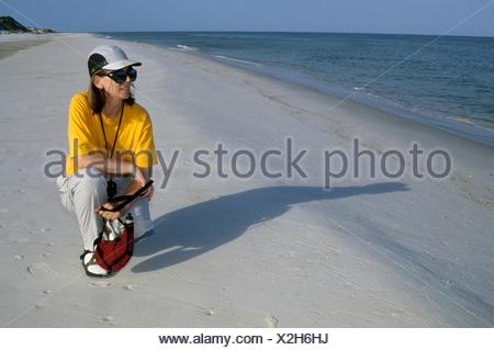 Wilderness beach, St Josephs Peninsula State Park, Florida. - Stock Photo