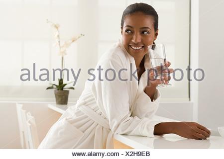 Woman at health spa - Stock Photo
