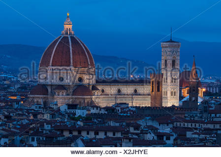 Europe, Italy, Tuscany, Toscana, Firence, Florence, Cathedral of Saint Mary of the Flower Cattedrale di Santa Maria del Fiore - Stock Photo