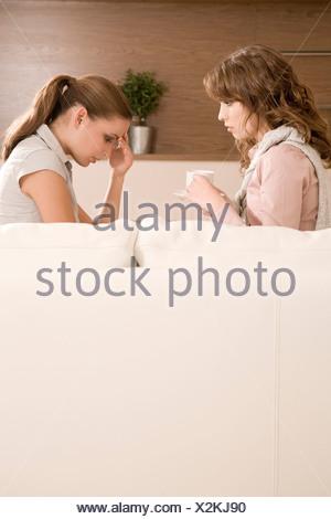 girlfriends talking - Stock Photo