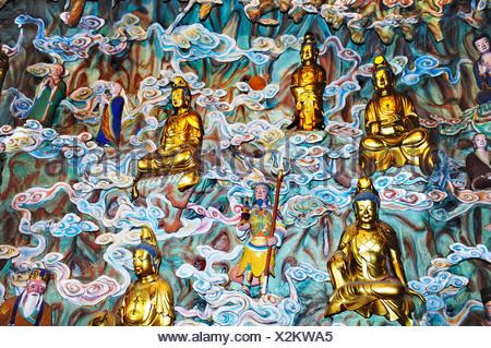 Figurines, gods' heaven, Longhua temple, Shanghai, China - Stock Photo