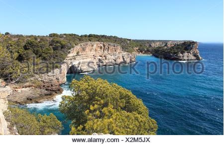 Cala Almonia, Islas Baleares, Mallorca. - Stock Photo