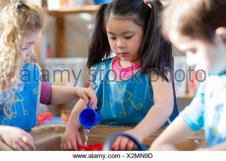 Aqua Play at Nursery - Stock Photo