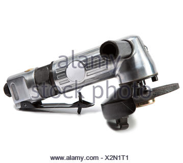 air angle grinder on white background - Stock Photo