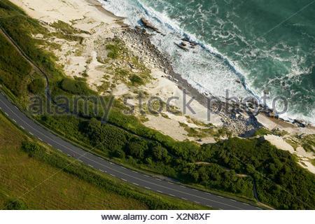 aerial view of coastline near st ives lands end peninsula cornish stock photo 22806727 alamy. Black Bedroom Furniture Sets. Home Design Ideas